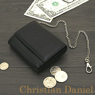 Wallet black black ChristianDaniel Christian Daniel wallet saifu wallet ☆ l-262 very small for three wallet short wallet book cowhide fold☆
