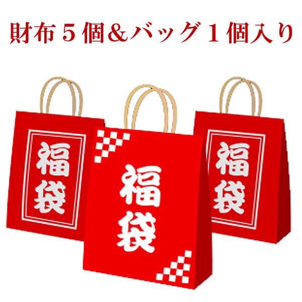 当店全品ポイント20倍★2018年アウトレット福袋(財布5個&バッグ1個)【SS1202】