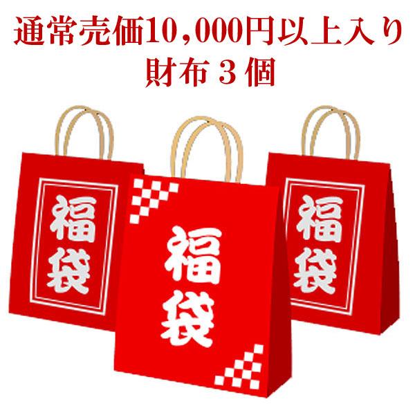 当店全品ポイント20倍★2018年アウトレット福袋(通常売価合計1万円以上分入り・財布3個)【SS1202】
