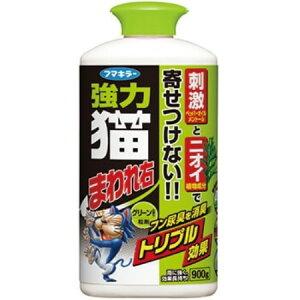 強力猫まわれ右粒剤 グリーンの香り 90g【フマキラー ネコ対策 忌避 刺激】