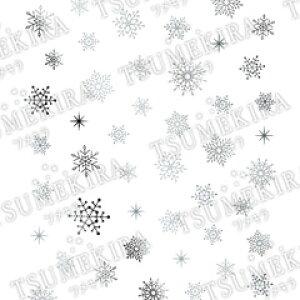 TSUMEKIRA ツメキラ ネイルシール Snow Crystal シルバー ジェル専用 【ネコポス対応】【メーカー取寄せ】 ネイル用品の専門店 ネイル シール プロ用にも