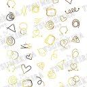 TSUMEKIRA (ツメキラ) ネイルシール Wire Art ゴールド (ジェル専用) 【ネコポス対応】
