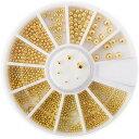◆セレクション メタルブリオン[ゴールド×6サイズ]ケース付 【ネコポス対応】 ネイル用品の専門店 プロ用にも