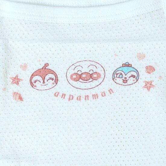 アンパンマンキャミソール肌着2枚組809095100女の子お名前ネーム付き夏肌着綿100%anpanmanベビーホワイト