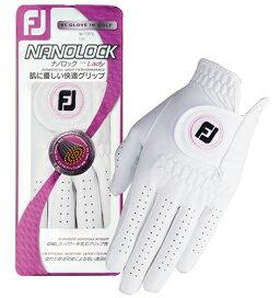 Footjoy フットジョイFJ Nanolock for Lady レディース ナノロック White ホワイト 日本郵便ゆうパケットをご希望の場合は備考欄にご記入下さい。