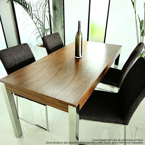 ダイニングテーブル 5点セット ダイニングセットウォールナット ホワイト チェア4脚 4人掛け北欧 モダン オフィス 会議室 ミーティング机に[WA-T/C4]