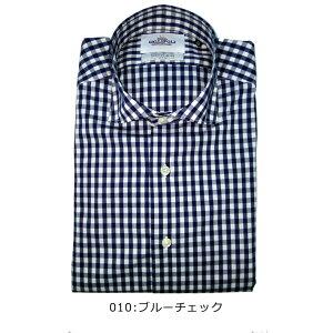 日本製メンズシャツチェック柄コットンストレッチカッタウェイ長袖スペイン生地280669GALLIPOLIcamiceria(ガリポリカミチェリア)