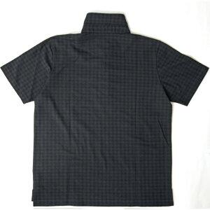 メンズポロシャツ千鳥柄ジャガード織り半袖ポログレーベージュブラック581502G-stage(ジーステージ)