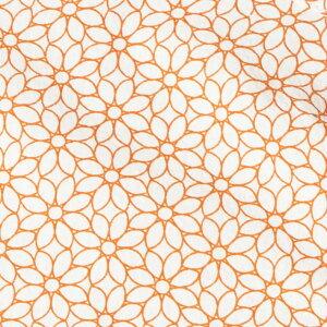 半袖シャツ花柄リップル加工夏シャツオレンジネイビーホワイト581601G-stage(ジーステージ)
