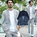 ジャケット セットアップ スーツ 別売 クールマックス ストレッチ 日本製生地 COOLMAX 吸汗速乾 ビジカジ GEAR SUIT …