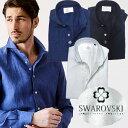 リネンシャツ 麻 長袖 日本製 麻100% ドレスシャツ スワロフスキー ホワイトレーベル ドレスシャツ 190669 GA…
