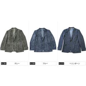 日本製生地ストレッチジャケットクールマックスウオッシャブルグレンチェックネイビーグレーGEARSUIT300208G-stageジーステージ