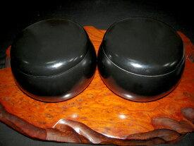 囲碁/碁笥 プラスチック碁笥 P黒 大☆ガラス碁石の厚み9mm(新生碁石、鳳凰碁石 竹)まで入る黒いプラ碁笥です。【RCP】