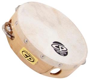 【本州・北海道送料500円】CP376 CP Tambourine with Head, 6″ Single Row Jingles カーフスキンヘッドつきタンバリン エルピー Latin Percussion ラテンパーカッション ※お取り寄せ商品