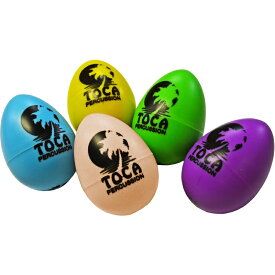 TOCA T-2106 Colored Egg Shakers(10/box) ☆T2106 エッグシェイカー 10個セット マラカス シェーカー Percussion パーカッション トカ【smtb-KD】【RCP】