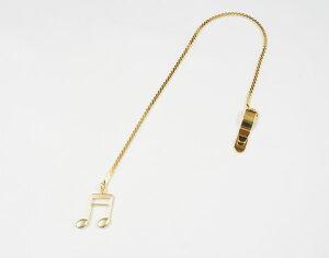 【ポスト投函】ブックマーク 16分音符/ゴールド BM-88/16N/G ナカノ NAKANO しおり ブックマーカー 音楽雑貨 ギフトや記念品にも PICKBOY MUSIC FOR LIVING 【P2】