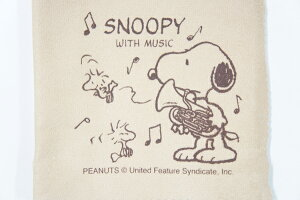 SNOOPY with Music SCLOTH-EP ユーフォニアム柄クリーニングクロス スヌーピーバンドコレクション/SNOOPY BAND COLLECTION【P2】