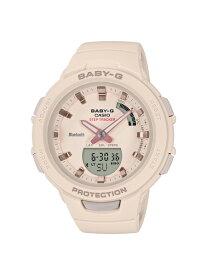 CASIO カシオ BABY-G ベビージー G-SQUAD ジースクワッド ベージュ レディース BSA-B100-4A1JF 腕時計