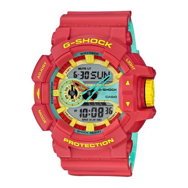G-SHOCK ジーショック Breezy Rasta Color ブリージー・ラスタカラー メンズ レッド GA-400CM-4AJF 腕時計