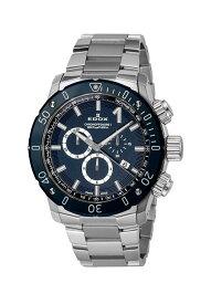 【ノベルティプレゼント】 EDOX(エドックス) クロノオフショア1 メンズ クロノグラフ デイト表示 ブルー シルバー 10221-3BU3M-BUIN3 腕時計