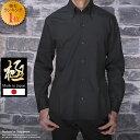 【極-きわみ-】【送料無料】【シャツ】楽天ランキング1位 日本製 ブロード デュエ ボタンダウン ブラック シャツキレイめ きれいめ メンズ 長袖 無地 ドレスシャツ 黒シャツ ブラックシャツ ギフト プレゼントギャルソンウェーブ【楽ギフ_包装】 409322