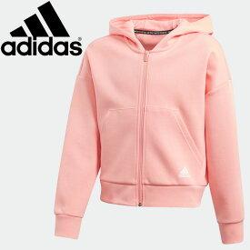 ○20Q1 adidas(アディダス) マストハブ スリーストライプス パーカー FYL28-FL1805 ジュニア ガールズ