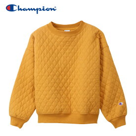 チャンピオン スウェットシャツ クルーネック キルティング レディース CW-Q017-765 19FW
