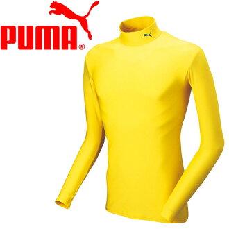 购物马拉松点数最大的35倍的(8/5(星期六)20:00~)○17SS PUMA(彪马)足球长袖子衬衫男子的女子的内部Compression嘲笑颈LS衬衫920480-11
