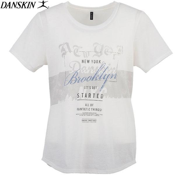 ダンスキン 半袖Tシャツ レディース トレーニング フィットネス DANSKIN DB77160-JW 17SS 2017年春夏