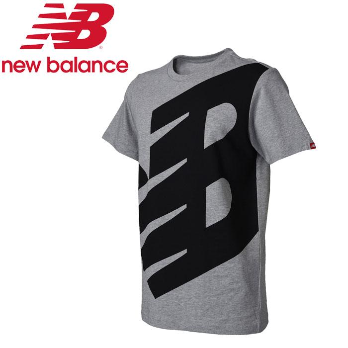 【♪】★17FW NewBalance(ニューバランス) トレーニング Tシャツ 半袖 メンズ エッセンシャルロゴT AMT73515-AG