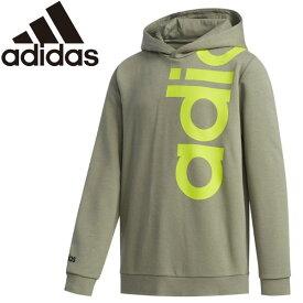 ○20Q1 adidas(アディダス) B ESSENTIALS ビッグリニアロゴ スウェットパーカ HAE81-FM0695 キッズ ジュニア