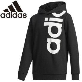 ○20Q1 adidas(アディダス) B ESSENTIALS ビッグリニアロゴ スウェットパーカ HAE81-FM0696 キッズ ジュニア