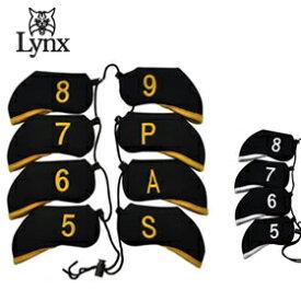 【最大1,500円OFFクーポン発行中!!有効期間:1/24(日)20:00〜1/28(木)01:59迄】Lynx Golf リンクス アイアンヘッドカバー 8個セット