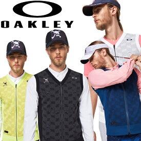 【あす楽対応】オークリー ゴルフ メンズ セーター ベスト SKULL MOIRE GRID SWEATER VEST FOA401643 2020年