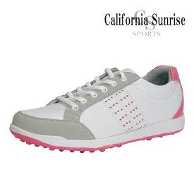 カリフォルニアサンライズ スパイクレス ゴルフシューズ レディース CSSH-3622L California Sunrise