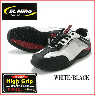Shopping marathon point up to 35 times (8/5( soil) 20:00 ...) EL NINO (El Nino) EL-01 spikesless golf shoes