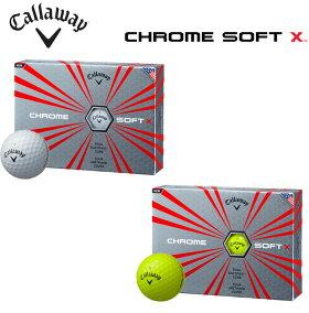 キャロウェイクロムソフトXゴルフボール1ダース(12P)2017モデルCHROMESOFTX【あす楽対応】
