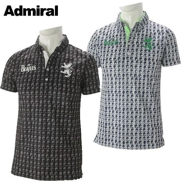 アドミラル ゴルフウェア メンズ THE BEATLES フェイス BDシャツ ADMA767 2017秋冬