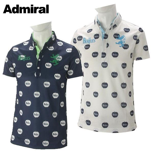 アドミラル ゴルフウェア メンズ THE BEATLES APPLE BDシャツ ADMA768 2017秋冬
