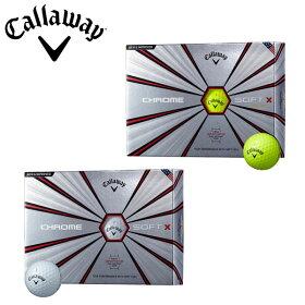 【あす楽対応】キャロウェイゴルフクロムソフトXゴルフボール1ダース(12P)2018年モデル