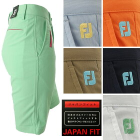 【1点までメール便送料無料】フットジョイゴルフウェアメンズカフショーツハーフパンツFJ-S16-P52春夏
