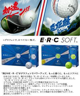 【あす楽対応】キャロウェイゴルフE・R・Cソフトゴルフボール1ダース(12P)2019モデルERC