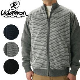 【あす楽対応】ユダマン メンズ ゴルフウェア フルZIP防風セーター XUD-1191 秋冬 UdamonGOLF