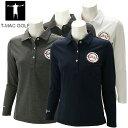 【あす楽対応】ティーマック レディース ゴルフウェア 長袖ポロシャツ P52W T-MAC 秋冬