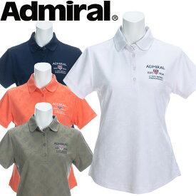 【あす楽対応】【メール便対応】アドミラル ブリッツジャガード ラウンドカラーシャツ レディース 春夏 ゴルフウェア ADLA021