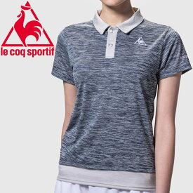 メール便配送 ルコック テニス 半袖ポロシャツ レディース QTWOJA47-NVY