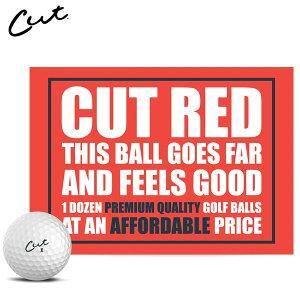 【あす楽対応】 カット レッド ゴルフボール CUT GOLF RED 1ダース12P USAモデル