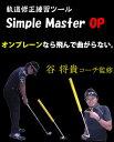 ☆【谷 将貴コーチ監修】スイング練習ツール シンプルマスターOP(オンプレーン)
