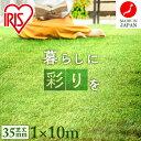 ★着後レビューでプレゼント★人工芝 ロール 1m×10m 35mm 芝生 国産 リアル人工芝(35mm) 10平米 IP-35110送料無料 …