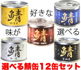 サバ缶 5種から味を選べる12缶セット 伊藤食品鯖缶
